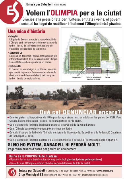 Ol mpia archives entesa per sabadell for Piscina olimpia sabadell